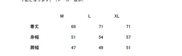 「熊本地震・復旧Tシャツサイズ表」について
